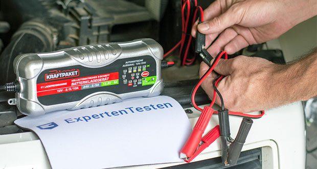 Dino KRAFTPAKET 10A-12V/24V Batterieladegerät im Test - mit einem optimierten Ladevorgang mit bis zu 10A bei 12V oder 5A bei 24V