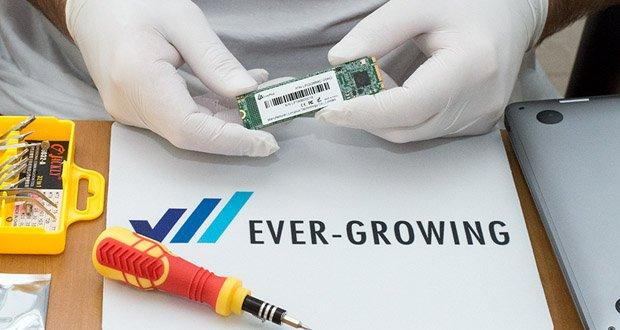 Die LincPlus SATA SSD 256GB im Test - besteht vollständig aus Halbleiterbauelementen, die NAND Flash Memory verwenden