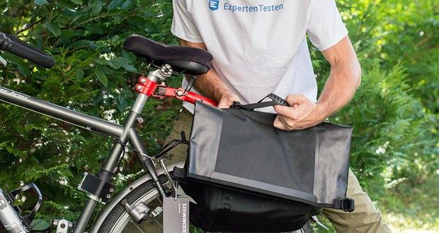 Steinwood Premium Fahrradtasche / Seitentasche für Gepäckträger im Test