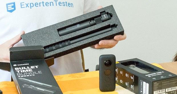 Action 360 Grad Kamera von Insta360 im Test - befestigen Sie die ONE X mit Insta360 unsichtbaren <a href=