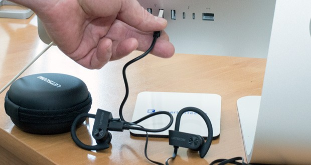 LETSCOM Bluetooth Kopfhörer U8I im Test - mit Ladezeit 1–2 Stunden über Mikro-USB-Kabel