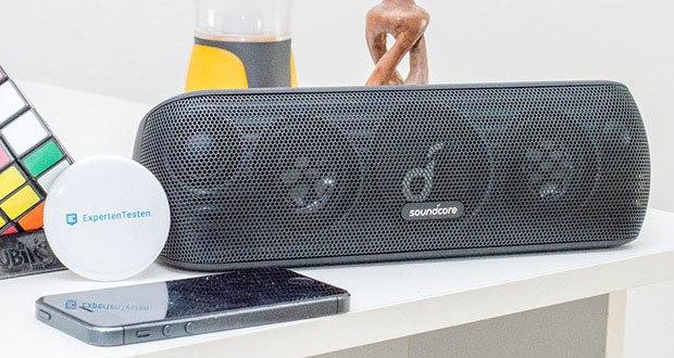 Soundcore Motion+ Bluetooth-Lautsprecher von Anker im Test - Duale 40kHz Tweeter, Neodym Woofer sowie passive Audio-Treiber schenken dir 30W Sound