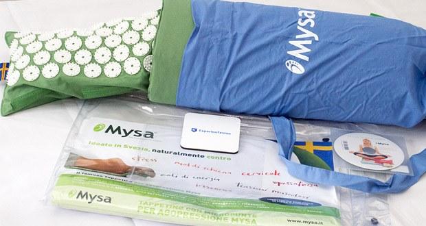 Authentische Akupressurmatte Thermo Mysa Duo von MYSA im Test - zertifizierte Füllung aus biologischem Dinkelspreu