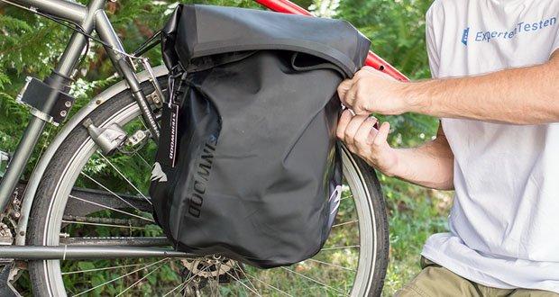 Steinwood Premium Fahrradtasche im Test - Großes Hauptfach mit 20 Liter Fassungsvermögen für Gepäck und Proviant