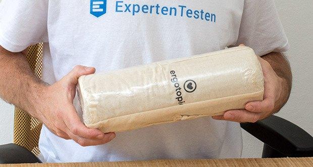 Ergotopia Faszienrolle im Test - Material: 100% Kork; Gewicht: 750 g
