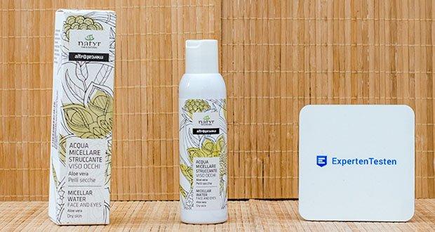 Natyr Mizellenwasser mit Aloe Vera 125 ml im Test - OHNE Parabene, SLES/SLS, Silikone, Mineralöle, Formaldehyde, GMO
