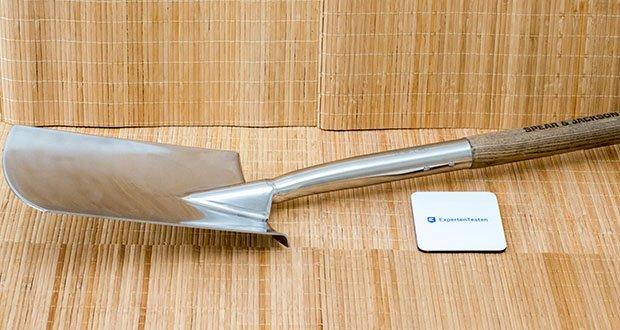 Spear & Jackson Traditioneller Edelstahl-Grabespaten im Test - Spiegelgehäuse aus poliertem Edelstahl