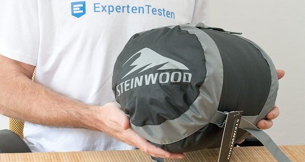 Der leichte Hütten- Mumienschlafsack von Steinwood ist ideal für jegliche Indoor- und Outdoor Aktivitäten