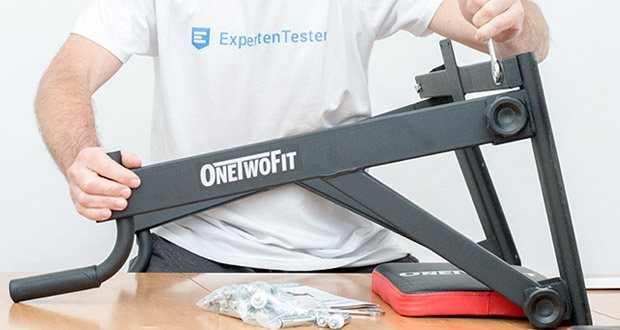 OneTwoFit Multifunktionale Klimmzugstange für die Wandmontage im Test - eine vollständige Anleitung und alle Montageteile sind im Lieferumfang enthalten