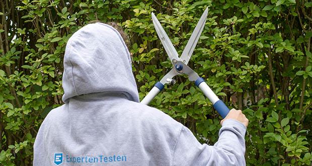 Spear & Jackson Razorsharp manuelle Heckenschere im Test - Gekerbte Klinge für die Verwendung bei dickeren Zweigen