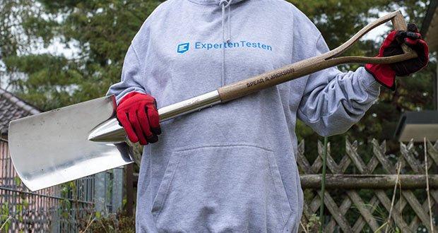 Spear & Jackson Traditioneller Edelstahl-Grabespaten im Test - inteiliger Hartholzschaft, geteilt, um einen Querlenker-Griff zu bilden, wetterfest für bessere Haltbarkeit