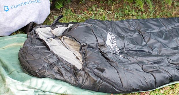Steinwood Premium Hütten- Mumien-Schlafsack im Test - Wasserresistentes, strapazierfähiges Außenmaterial