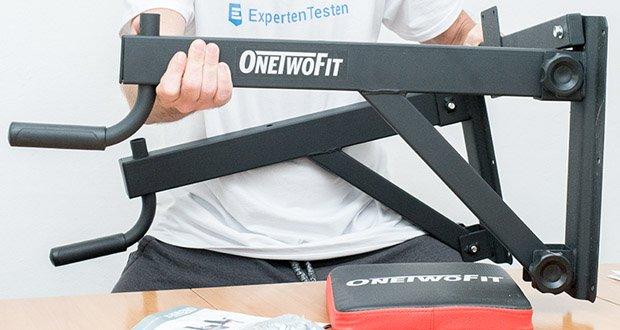 OneTwoFit Multifunktionale Klimmzugstange für die Wandmontage im Test - bietet hohe Stabilität und Steifigkeit