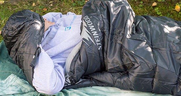 Steinwood Premium Hütten- Mumien-Schlafsack im Test - gemütlich schlafen bei einem Temperatureneinsatzbereich von -10° bis +20°C