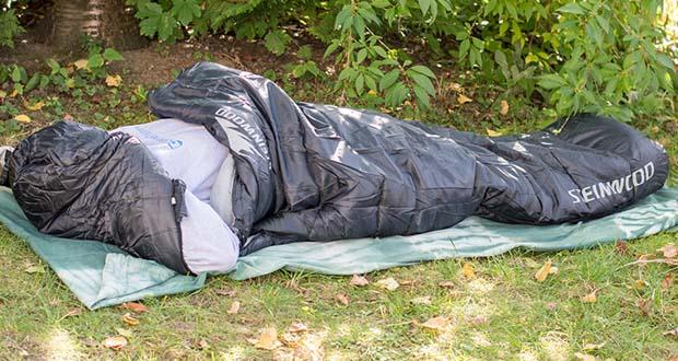 Steinwood Premium Hütten- Mumien-Schlafsack im Test