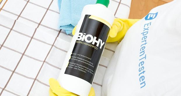 BIOHY Teppichshampoo Teppichreiniger im Test - Shampoo für Teppich und <a href=