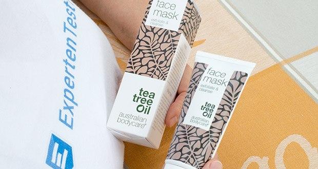 Australian Bodycare Gesichtsmaske mit natürlichem Teebaumöl im Test - die Tonbasierte Gesichtsmaske enthält natürliches Teebaumöl, es verhindert probleme, welche für Pickel und unreine Haut verantwortlich sind