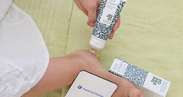 Australian Bodycare Hornhaut Fußcreme im Test - Die Fußcreme stellt das natürliche Gleichgewicht der Haut wieder her und macht die Füße bei regelmäßiger Anwendung glatter und weicher