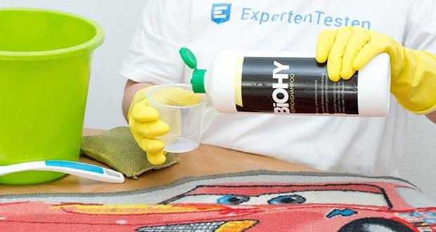 BIOHY Teppichshampoo Teppichreiniger im Test - für die manuelle Reinigung 10 %ig (100 ml/Liter kaltem Wasser) verdünnen