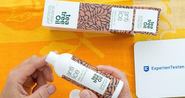 Australian Bodycare Anti Lice Kopfläuse Mittel im Test - Einfache 15-minütige Behandlung mit natürlichem Teebaumöl, welches bei der Behandlung von Kopfläusen und Läuseeiern verwendet werden kann