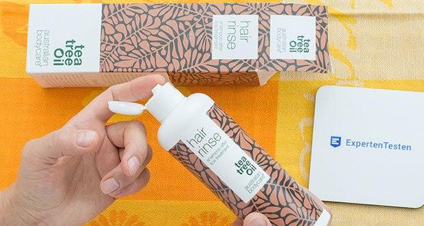 Australian Bodycare Hair Rinse Läuse Shampoo im Test - Nachdem die einfache 15-minütige Behandlung mit natürlichem Teebaumöl eingewirkt ist, sollte das Kopfläuse Mittel mit dem Läuseshampoo ausgewaschen werden