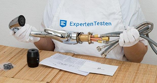 Homelody Küchenarmatur im Test - Standard 3/8 Zoll Norm-Anschluss, sehr leicht zu installieren