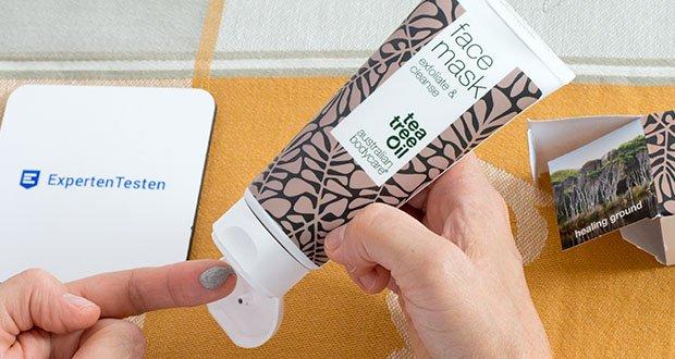Australian Bodycare Gesichtsmaske mit natürlichem Teebaumöl im Test - Pickel, Mitesser und Unreinheiten entstehen durch probleme und alte Hautzellen in den Poren