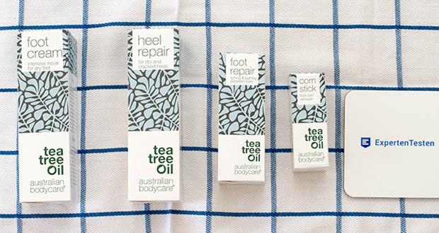 Australian Bodycare Fußpflege Set im Test - das natürliche Teebaumöl bekämpft und schützt die Haut effektiv vor Probleme
