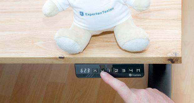 Ergotopia elektrisch höhenverstellbarer Schreibtisch im Test - edles LED-Display mit exakter Höhenanzeige
