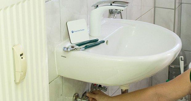 Homelody Waschtischarmatur im Test - Schlauch für Lebensmittelqualität - DVGW zertifiziert