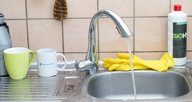 Homelody Küchenarmatur im Test - die Chromarmatur hält die Armatur wie immer in neuem Glanz