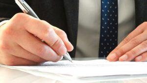 Unterschrift unter McSIM Kündigung
