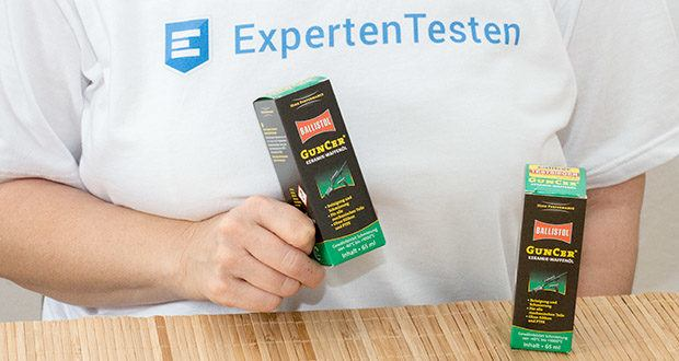 BALLISTOL GunCer Keramik-Waffenöl im Test - das High-Tech-Waffenöl reduziert Leistungsverluste beim Nachladen und ist besonders bei schwacher Munition zu empfehlen