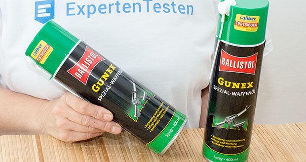 BALLISTOL Gunex Waffenöl Spray im Test - ideal zur Pflege und Wartung von Jagd- und Sportwaffen, Pistolen, Revolvern und Signalgeräten