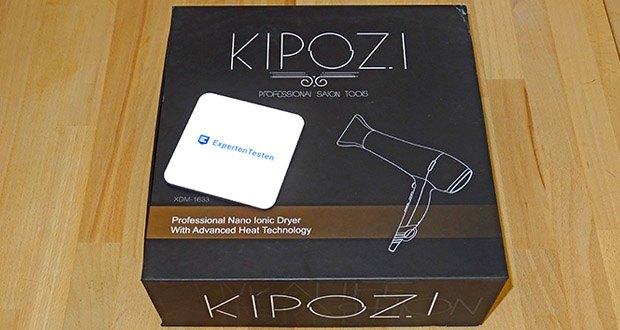 KIPOZI Haartrockner im Test - die Geschenkverpackung enthält eine Konzentratordüse und ein Diffusor