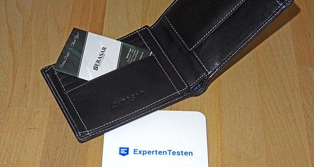 SERASAR Leder Geldbeutel mit RFID Schutz im Test - 12 Kartenfächer, 2 Geldscheinfächer, 1 Münzfach mit Druckknopf & 1 Ausweisfach