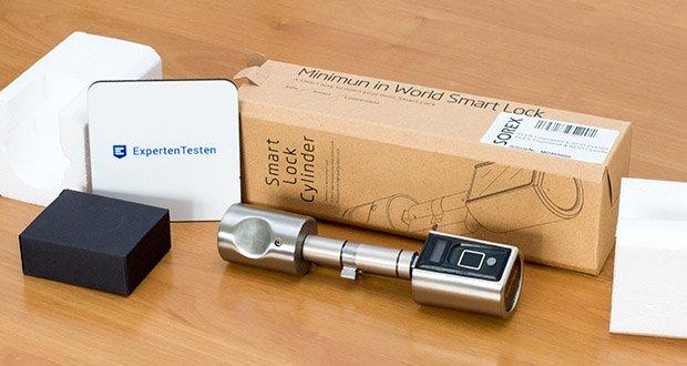 Der batteriebetriebene SOREX FLEX Fingerprint Türöffner ermöglicht die Ent- und Verriegelung von Türen mittels Fingerabdruck