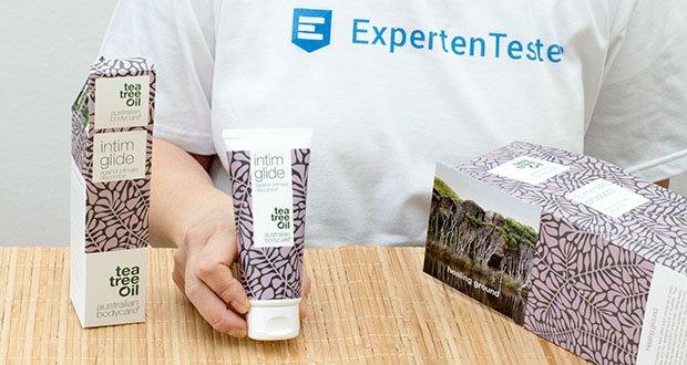 Intim Glide von Australian Bodycare ist ein leichtes, sanftes und sinnliches Gel, das natürliches Teebaumöl enthält, um Probleme beim Sex oder beim Verwenden von Sexspielzeugen effektiv entgegenzuwirken
