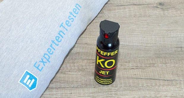 BALLISTOL KO-JET Pfefferspray im Test - Hauptwirktstoff: 11 % OC (Oleresin Capsicum = Cayenne-Pfeffer)