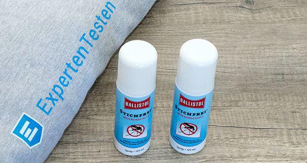 BALLISTOL Stichfrei Mückenspray im Test - versorgt die Haut mit Feuchtigkeit und enthält sonnenschutzaktiven UV-B-Filter
