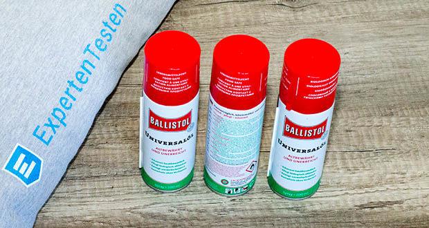 Ballistol Universalöl Waffenöl im Test - ist der Allrounder gegen quitschendes Metall und zur Pflege von Holz, Leder, Gummi, Kunststoff, Fell etc.