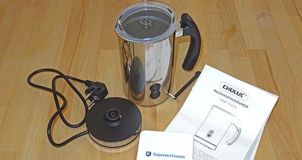 CHULUX Milchaufschaeumer im Test - Fassungsvermögen: Maximal 115 ml Schäummenge und 240 ml Erwärmmenge