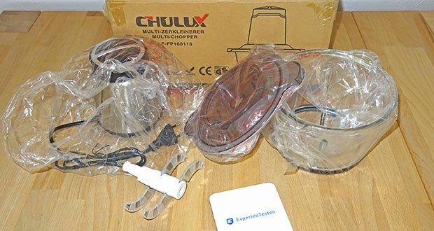 CHULUX elektrischer Zerkleinerer im Test - mit einem großen Glasbehälter (1,8 L), für Ihre zahlreiche Bedürfnisse