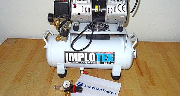 Implotex 850 Watt 14 Liter Druckluftkompressor Flüsterkompressor im Test