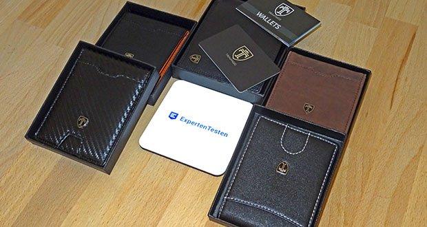 TRAVANDO Geldbeutel Männer mit Geldklammer im Test - RFID-Schutz für alle Karten