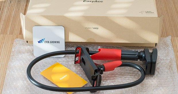 EasyAcc Tablet Halterung Handyhalter im Test - der Schwanenhals ist flexibel kann in alle nur erdenklichen Winkel eingestellt werden