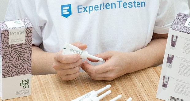 Australian Bodycare Femigel Intimpflege im Test - bei leichten Symptomen wird alle drei Tage eine Tube verwendet; bei schwereren Symptomen kann das Gel bis zu zweimal täglich verwendet werden