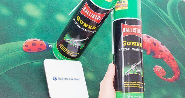 BALLISTOL Gunex Waffenöl Spray im Test - hält die gesamte Mechanik gleitaktiv und löst auch Harze ungeeigneter Öle