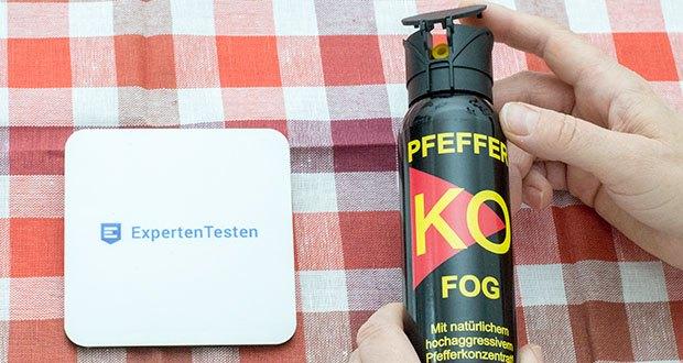 Ballistol KO-FOG Pfefferspray im Test - zum Einsatz im Freien