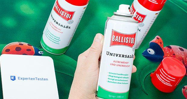 Ballistol Universalöl Waffenöl im Test - imprägniert und schützt Leder vor Wasser sowie Fäulnis, verhindert Festfrieren von Türschlössern und -gummis